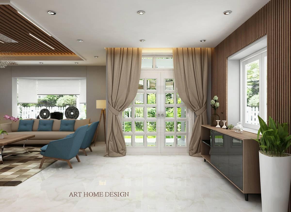 thiết kế nội thất biệt thự nam viên