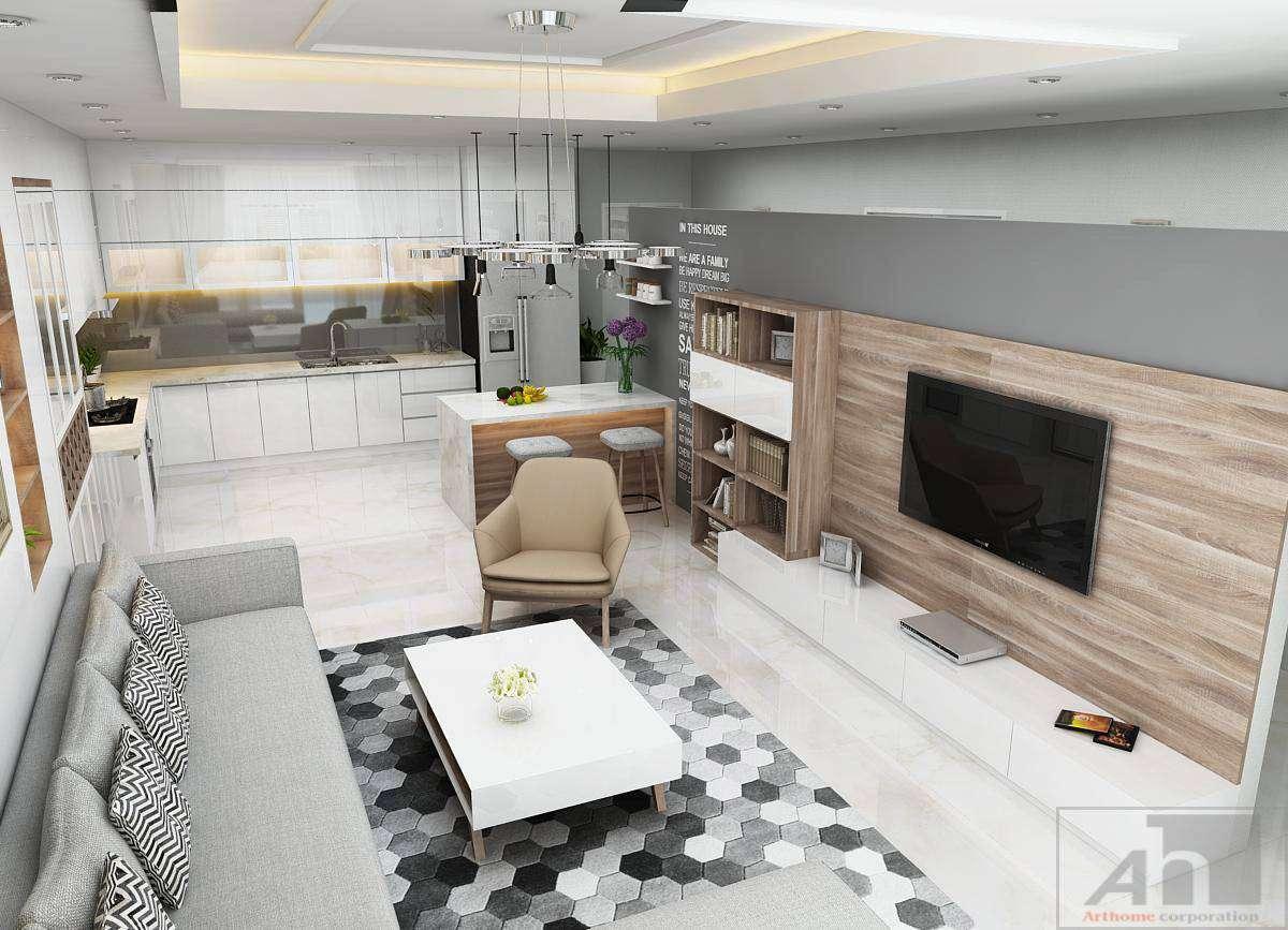 thiết kế nội thất căn hộ 70m2