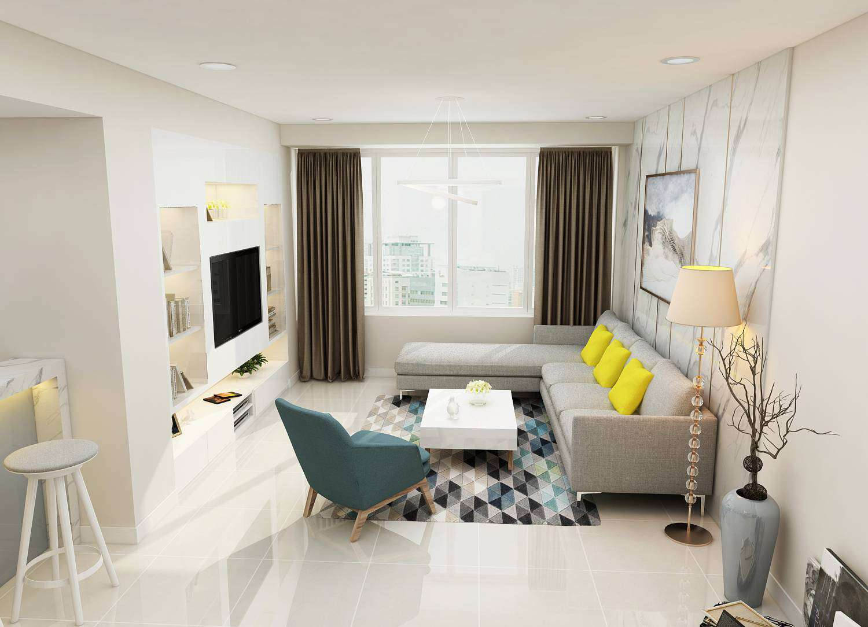 thiết kế nội thất chung cư tropic garden