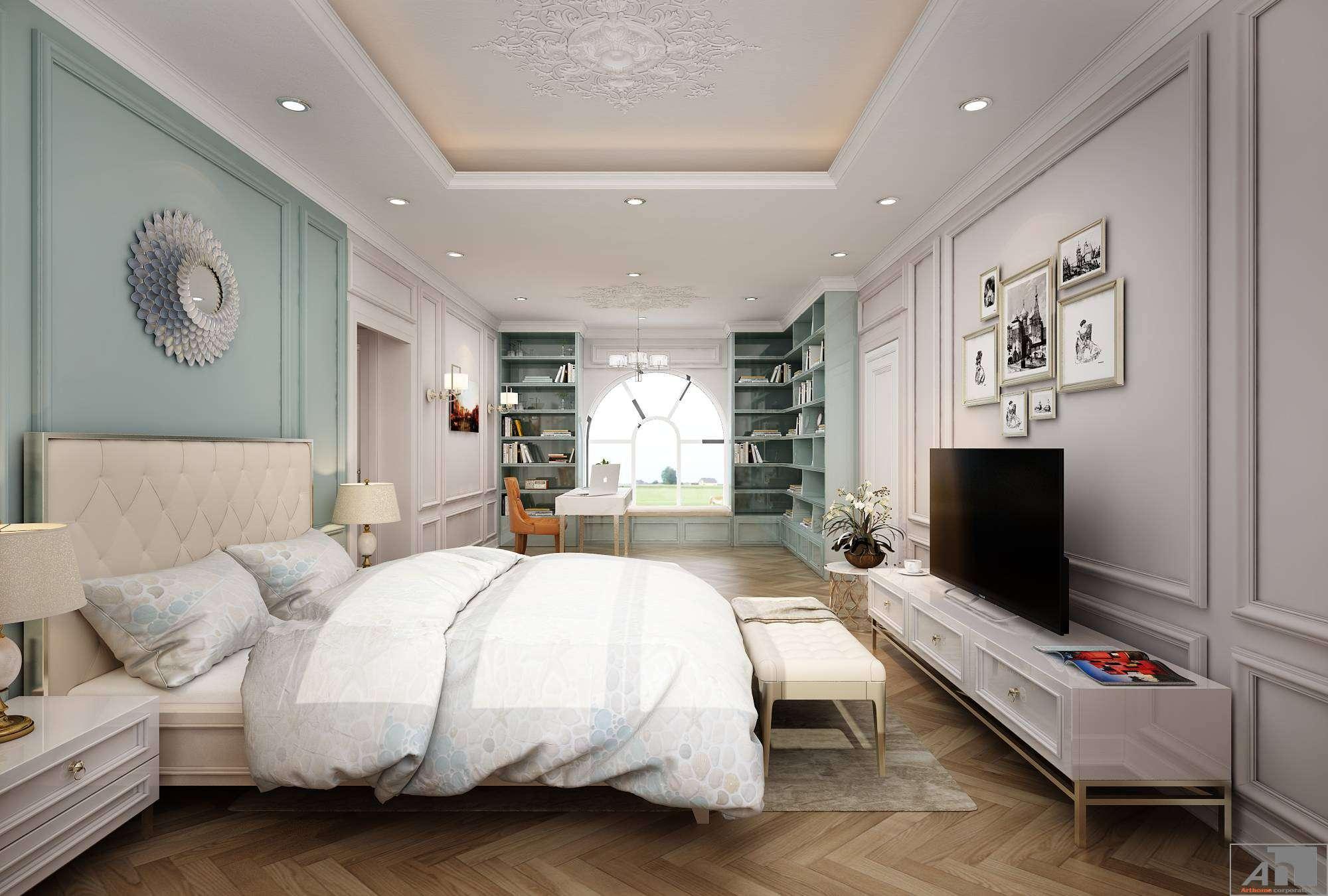 thiết kế nội thất biệt thự phú gia