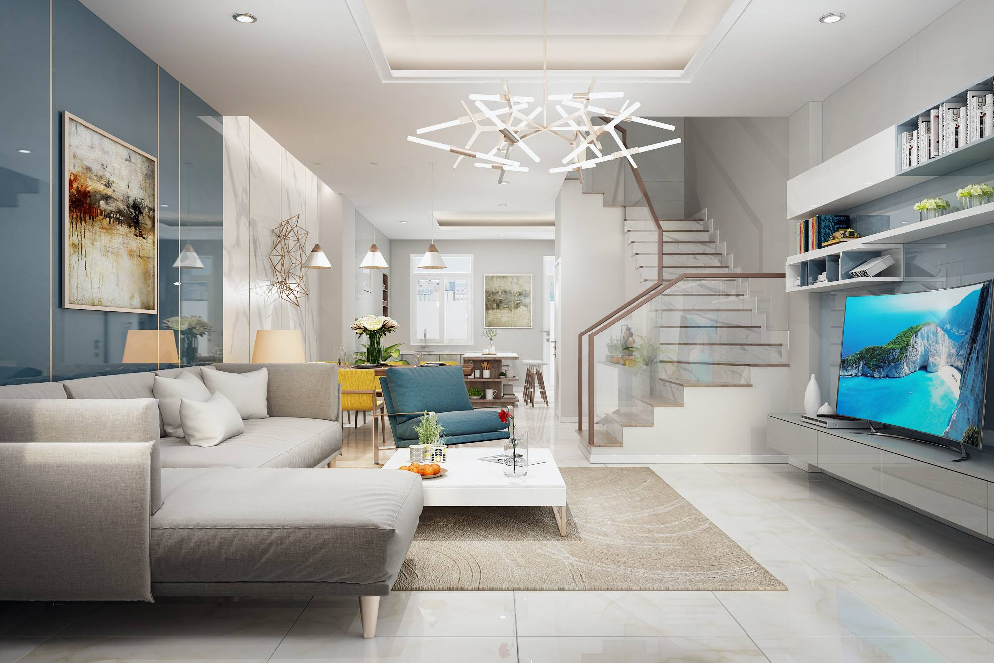 thiết kế nội thất nhà phố lakeview