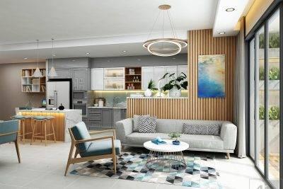 Trang trí nội thất với không gian mở
