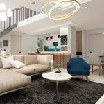 thiết kế nội thất căn hộ duplex