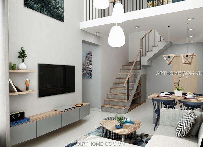 thiết kế nội thất căn hộ dulex