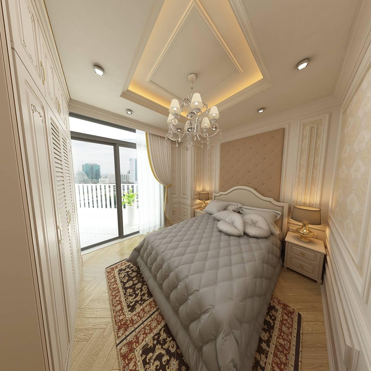 thiết kế nội thất căn hộ 110m2 lê đại hành