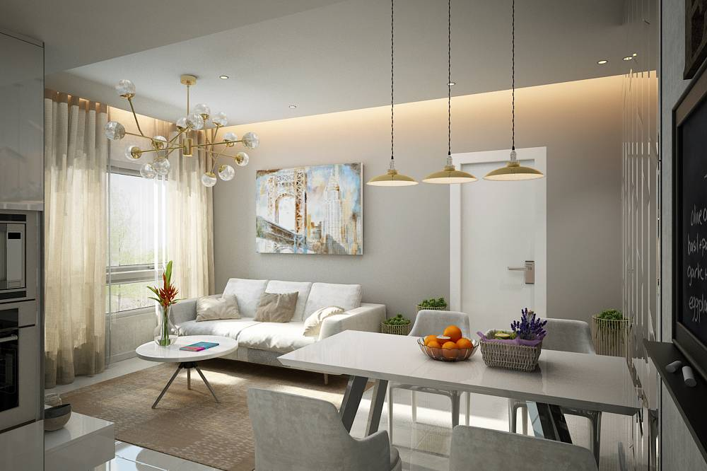thiết kế nội thất chung cư sunrise city