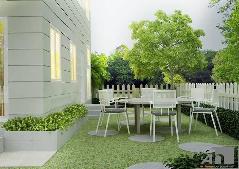 thiết kế nội thất sân vườn