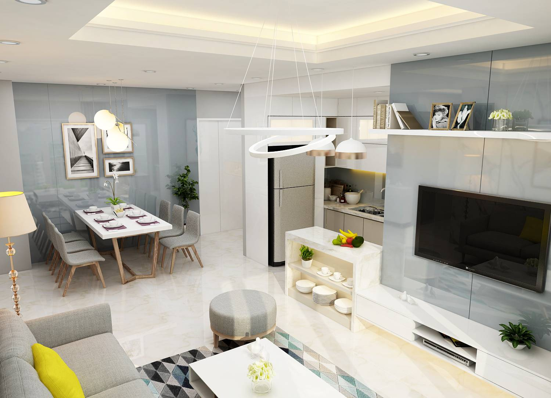 thiết kế nội thất căn hộ 88m2
