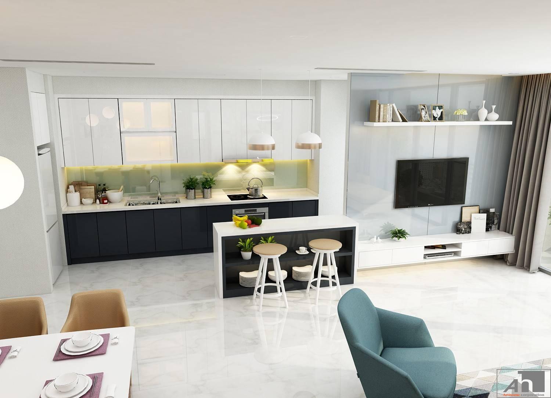 thiết kế nội thất căn hộ 150m2 vinhomes