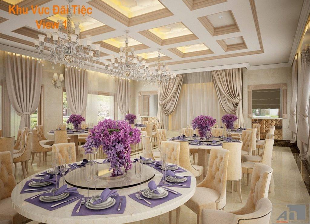 thiết kế nội thất villa đức long gia lai