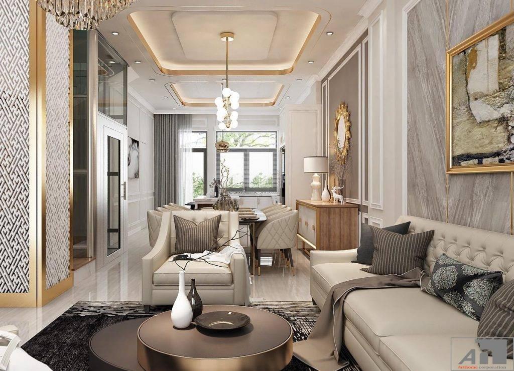 thiết kế nội thất căn hộ bán cổ điển