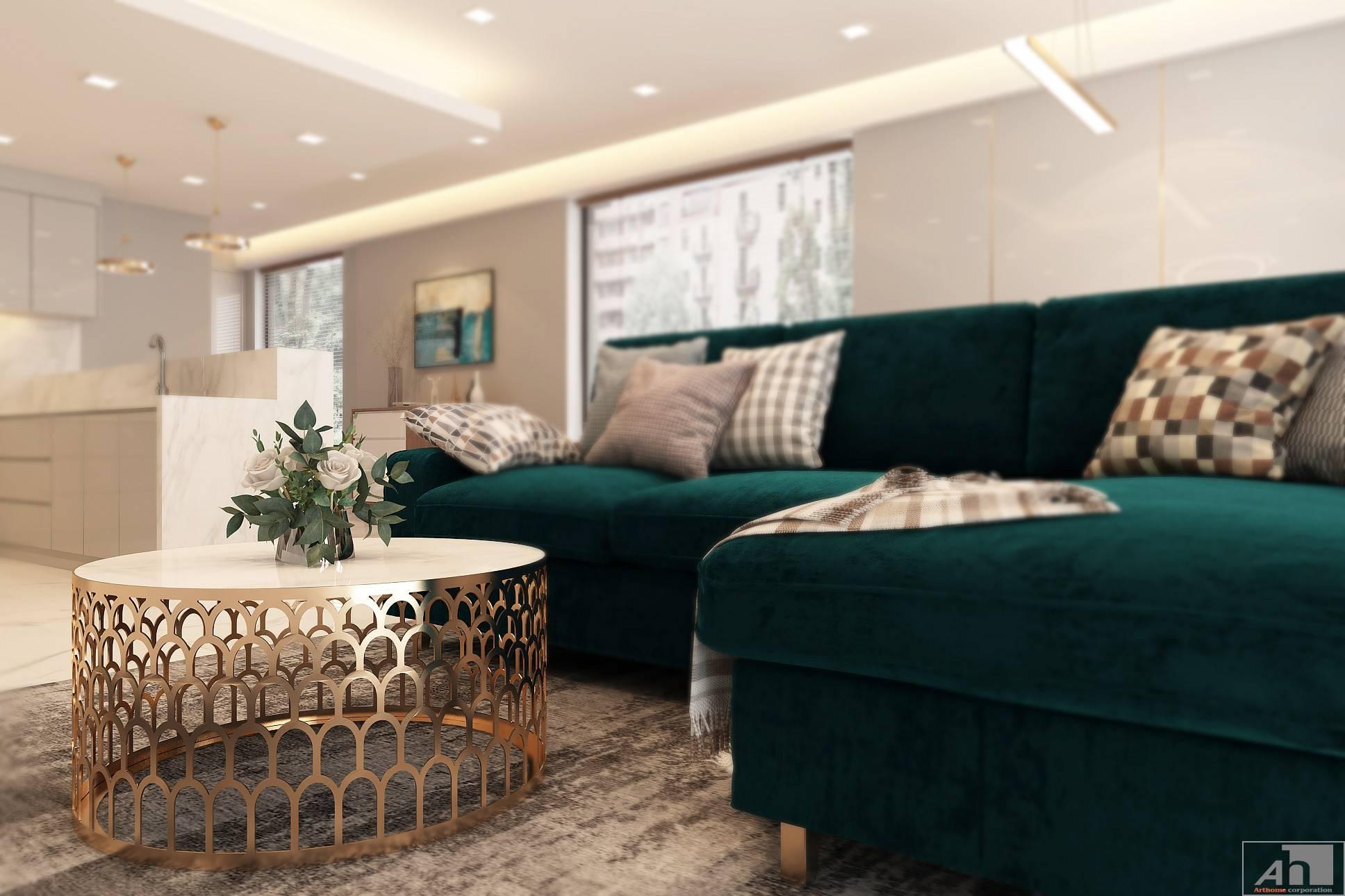 thiết kế nội thất căn hộ cao cấp 125m2
