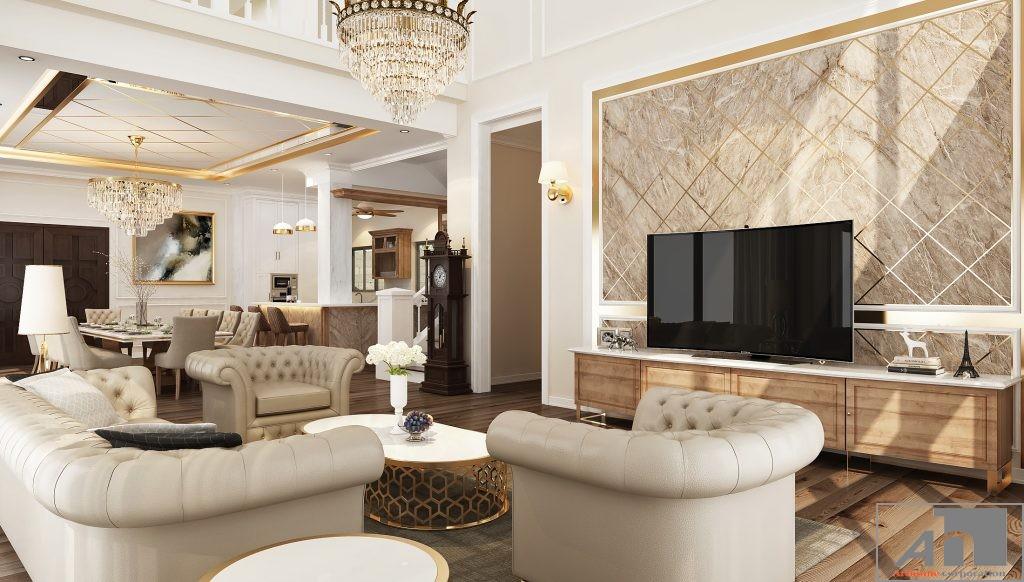thiết kế nội thất biệt thự bán cổ điển