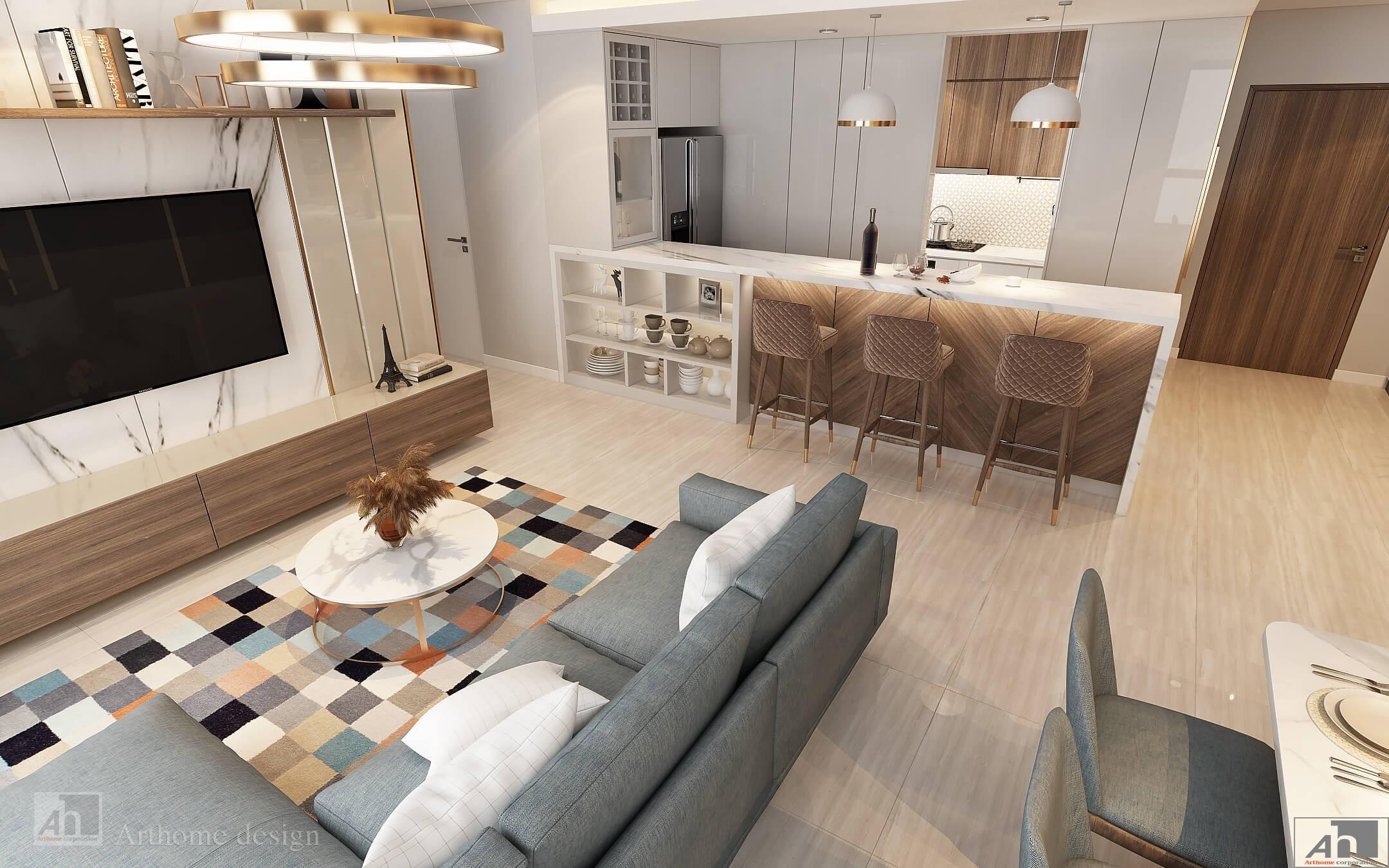 thiết kế nội thất căn hộ vistaverde