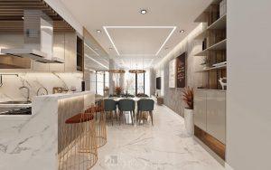 thiết kế và thi công căn hộ Scenicvalley 100m2