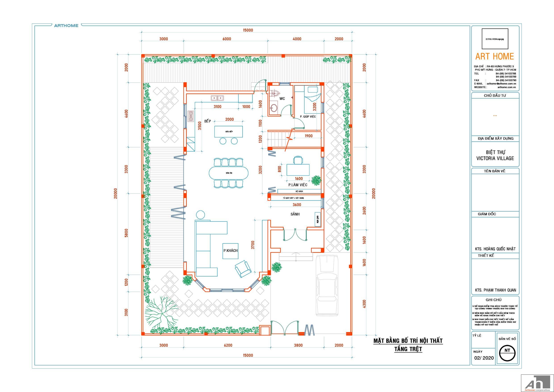 thiết kế nội thất biệt thự đơn lập victoria village