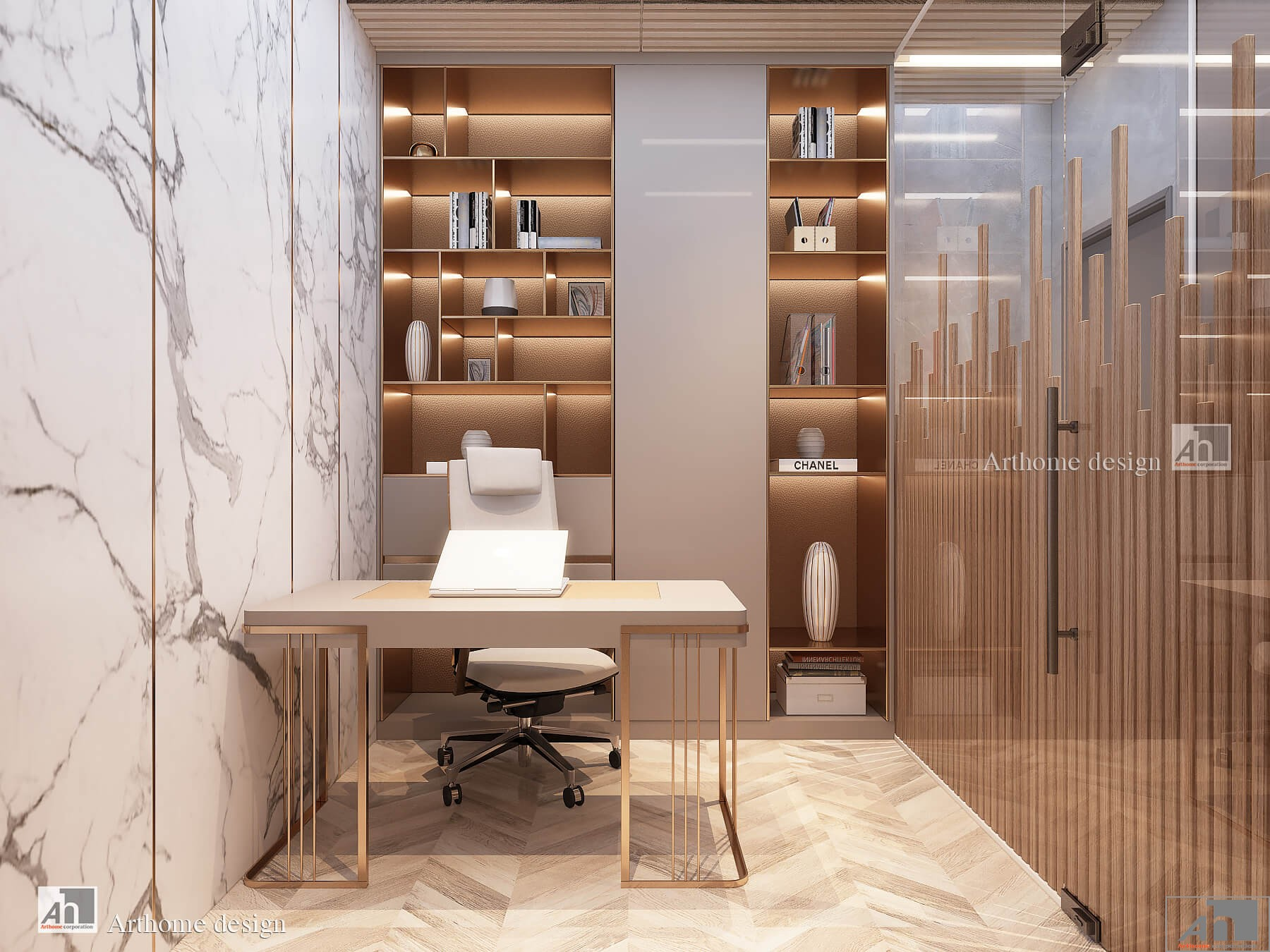 Thiết kế và thi công nội thất cao cấp căn hộ Shophouse S02 SUNWAPEARL