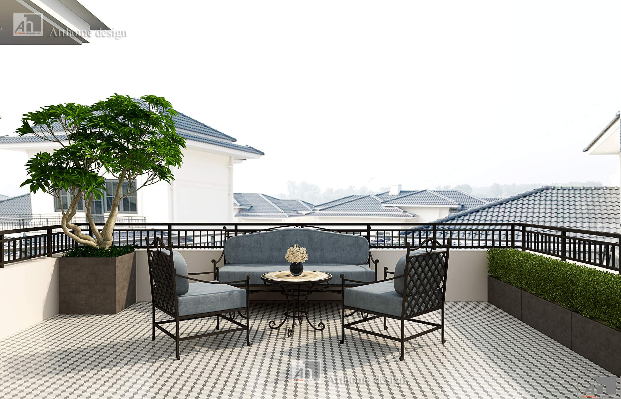 Thiết kế thi công biệt thự anh An Swanbay Đồng Nai