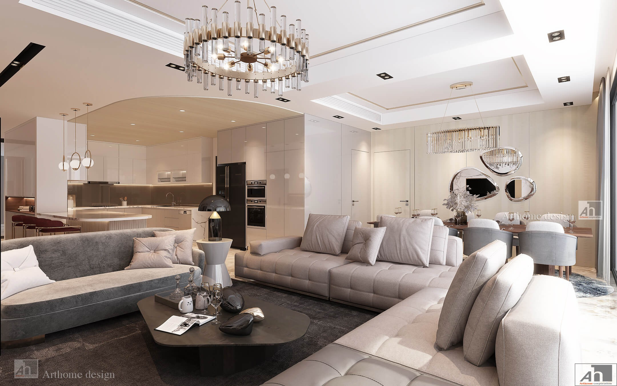 thiết kế nội thất căn hộ cao cấp