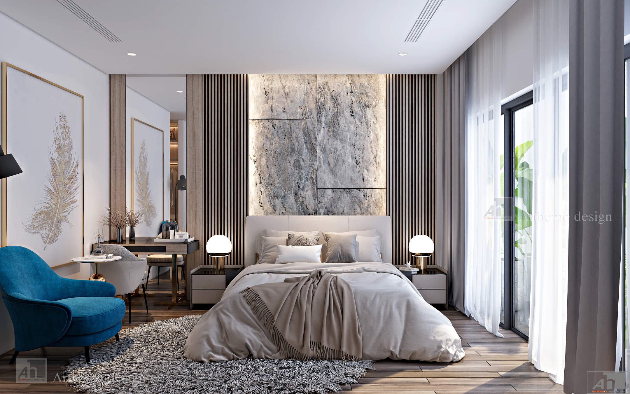 thiết kế nội thất căn hộ cao cấp MIDTOWN THE PEAK