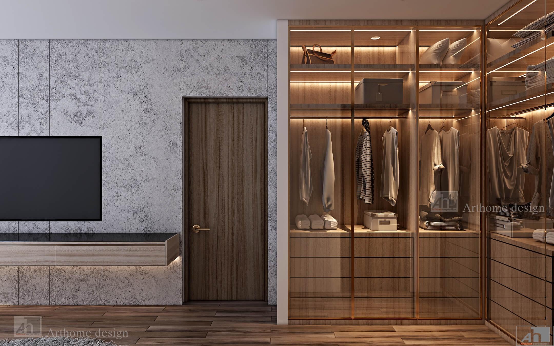 thiết kế nội thất căn hộ cao cấp MIDTOWN THE PEAKa